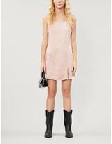 KENDALL + KYLIE Pacsun PacSun x Kendall & Kylie Jenner square-neck satin-crepe mini dress