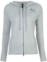 Marc Cain embroidered zipped hoodie