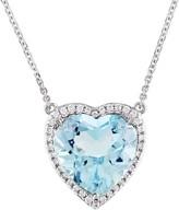 Bellini 6.85 ct Blue Topaz & 1/6 cttw Diamond Heart Necklace