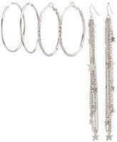 Charlotte Russe Hoop & Star Tassel Earrings Set