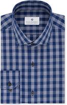 Ryan Seacrest Distinction Men's Slim-Fit Non-Iron Blue Check Dress Shirt, Only at Macy's