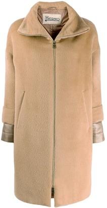 Herno Textured Zip-Up Hooded Jacket
