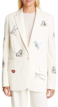 Stella McCartney Bug & Bird Embroidered Blazer