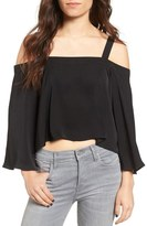 The Fifth Label In Full Light Cold Shoulder Top