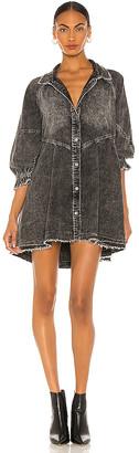 Free People Hannah Mini Denim Dress
