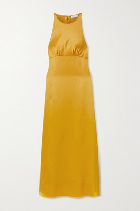 Vanessa Cocchiaro Mary Cutout Washed-satin Gown - Mustard