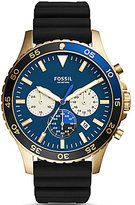 Fossil Crewmaster Sport Chronograph Silicone-Strap Watch