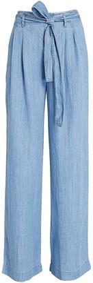 Rails Jess Wide-Leg Chambray Pants