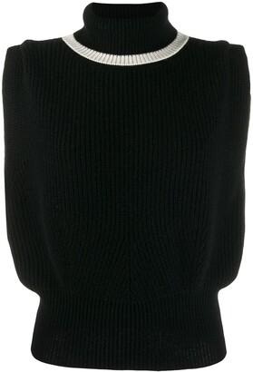 Cashmere In Love roll-neck Jade vest