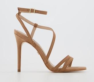 Office Headgirl Strappy High Sandals Nude Nubuck