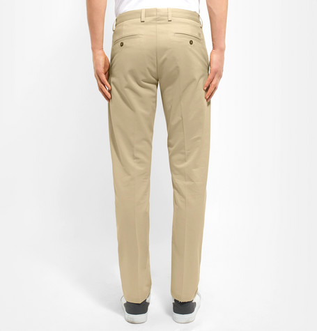 Ami Slim-Fit Tapered Cotton-Drill Chinos