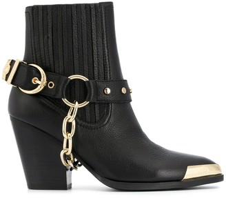 Versace Jeans Couture Chain Buckle Detail Boots