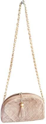 Chanel Camera Khaki Suede Handbags