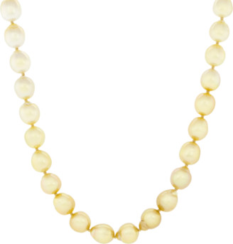 Baggins Gold And White South Sea Pearl Necklace