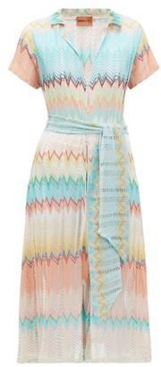 Missoni Mare - Metallic Zigzag-knit Shirtdress - Womens - Multi