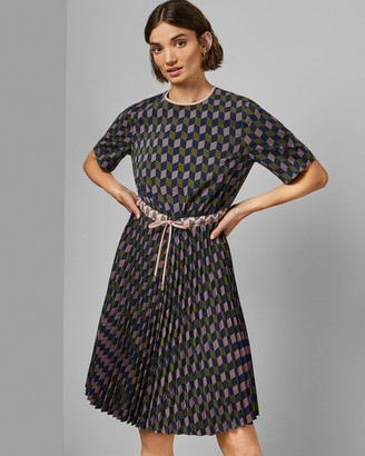Ted Baker Printed Midi Dress