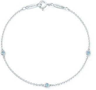 Tiffany & Co. Elsa Peretti Color by the Yard bracelet in sterling silver with aquamarines