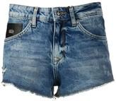 John Richmond distressed denim shorts