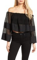 KENDALL + KYLIE Women's Off The Shoulder Top
