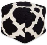 Surya Montijo POUF Ottoman in Coal Black/Winter White