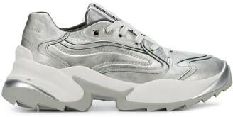 Sergio Rossi Contrast Low-Top Sneakers