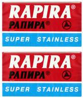 Chrome Double Edge Blades by Rapira (10 Blades)