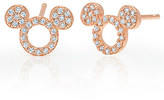 Disney Mickey Mouse Icon Silhouette Stud Earrings by CRISLU - Rose Gold
