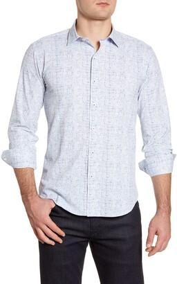 Bugatchi Shaped Fit Button-Up Performance Shirt