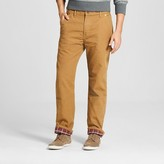 Dickies Men's Relaxed Straight Fit Canvas Flannel-Lined Carpenter Jean
