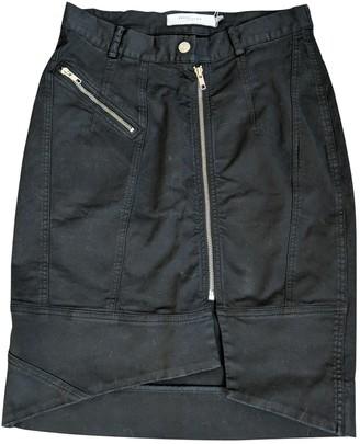 Preen Line Black Cotton Skirt for Women