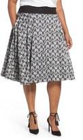 Melissa McCarthy Plus Size Women's Bird Print Full Skirt