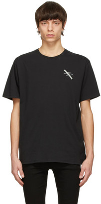 Saturdays NYC Black Gotham Slash Chest T-Shirt