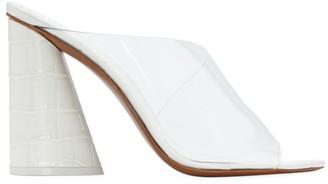 Mercedes Castillo Kuri Croc-Embossed PVC Mules