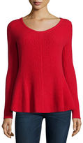 Neiman Marcus Cashmere Peplum Sweater