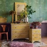 Graham and Green Yellow Chevron Bone Inlay Furniture