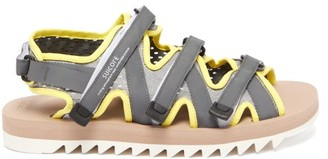 Suicoke Zip Multi-strap Technical-canvas Sandals - Yellow Multi