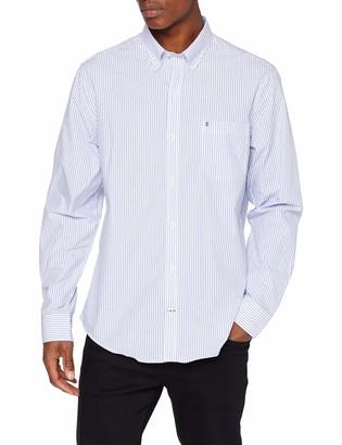 Izod Men's Dobby Stripe Spread Collar Shirt Casual