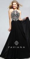 Faviana Halter Pastel Jeweled Prom Bodice Prom Dress