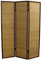 ORE International 70.25 in. x 17.1 in. 3 Panel Bamboo Room Divider