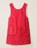 Pocket Cord Pinafore Dress