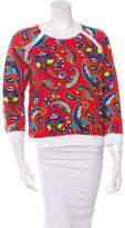 MSGM Abstract Print Crew Neck Sweatshirt