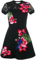Valentino floral intarsia mini dress