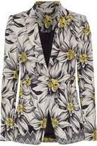 Alice + Olivia Alice+olivia Cotton-Blend Floral-Jacquard Blazer