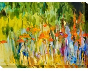 """West of the Wind Orange Lily Abstract Outdoor Wall Art, 40"""" x 30"""""""