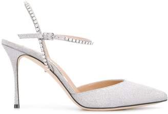 Sergio Rossi Godiva Bridal glitter pumps
