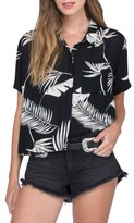 Volcom Women's Fox Tail Palm Print High/low Crop Top