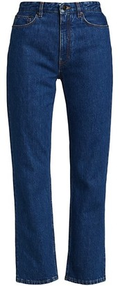 The Row Christie Cropped Straight-Leg Jeans