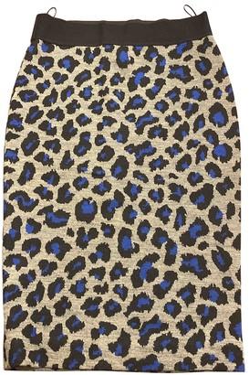 Pinko Grey Wool Skirt for Women
