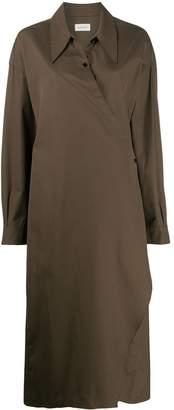 Lemaire wrap front shirt dress