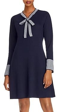 Nanette Lepore nanette Bow Detail Ribbed Sweater Dress